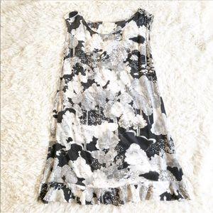 Anthropologie Moulinette Seours Black Floral Dress